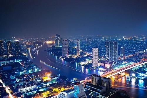 Thủ đô Bangkok Thái Lan về đêm